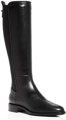 Aquatalia Women's Nastia Weatherproof Leather Low-Heel Riding Boots