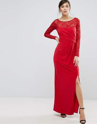 Coast Riva Lace Sleeve Wrap Maxi Dress