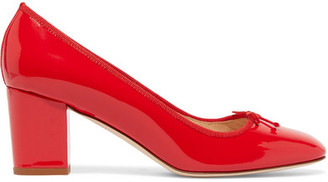 J.Crew - Patent-leather Pumps - Red $220 thestylecure.com