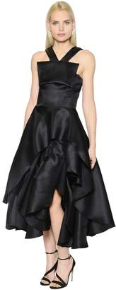 Ruffled & Layered Flared Mesh Dress