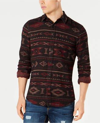 American Rag Men's Geometric Tapestry Shirt