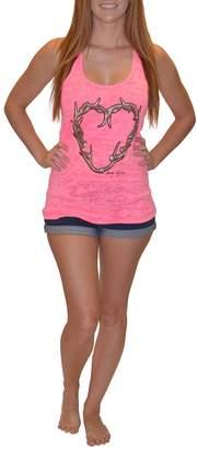 Sporty Girl Apparel Antler Heart Tank