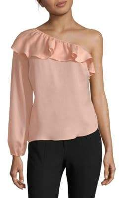 Ruffle One-Shoulder Blouse