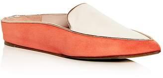 Taryn Rose Women's Renatta Suede Hidden Wedge Pointed Toe Mules