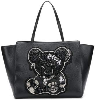 Philipp Plein teddy bear tote bag