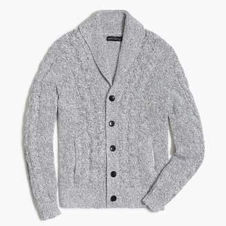 J.Crew Chunky cardigan sweater in marled cotton