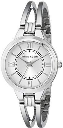 Anne Klein Women's AK/1441SVSV -Tone Bangle Watch