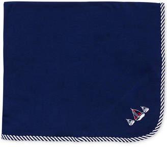 Little Me Baby Boys Sailboat Blanket