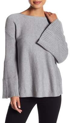 Vince Camuto Ribbed Bell Sleeve Sweater (Petite)
