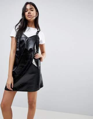Asos DESIGN Vinyl Mini Slip Dress