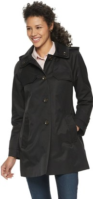 London Fog Tower By Women's TOWER by Hooded Raincoat