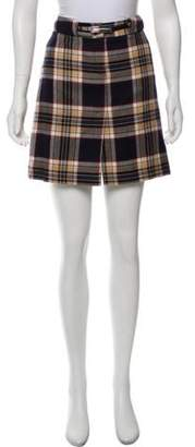 Dolce & Gabbana Plaid Mini Skirt Navy Plaid Mini Skirt