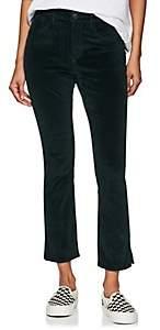 3x1 Women's Higher Ground Mini Split Velvet Pants - Dk. Green