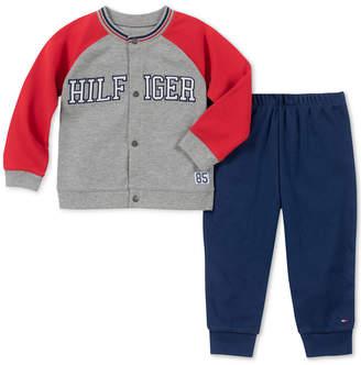 Tommy Hilfiger Baby Boys 2-Pc. Varsity Jacket & Pants Set