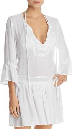 Vix Solid Agata Dress Swim Cover-Up