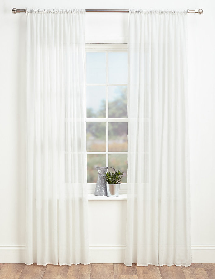 Marks and Spencer Sheer Voile Panel ShopStylecouk Home