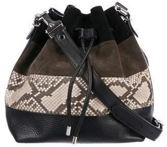 Proenza Schouler Snakeskin-Trimmed Medium Bucket Bag Black Snakeskin-Trimmed Medium Bucket Bag