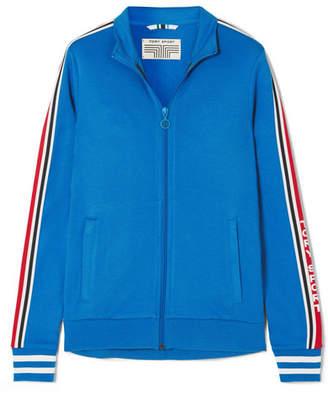 Tory Sport Striped Stretch-jersey Track Jacket - Blue