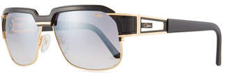 Cazal Men's Square Half-Rim Acetate/Metal Sunglasses