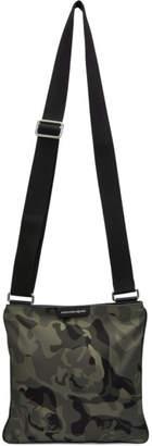 Alexander McQueen Khaki Camo Cross Body Zip Bag