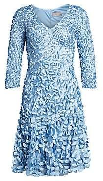 Theia Women's Embellished Satin Petal Dress