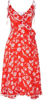 Athena Procopiou Floral Wrap Dress