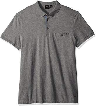 HUGO BOSS Boss Orange Men's Principle 1 Short Sleeve Polo Jersey Denim Mix