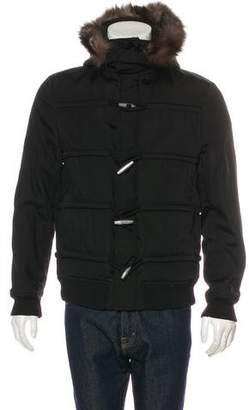 Kris Van Assche Fur-Trimmed Duffle Jacket