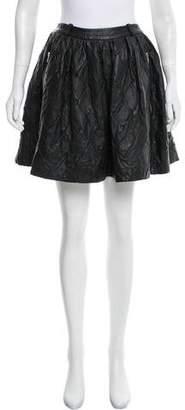 Preen Line Leather Mini Skirt