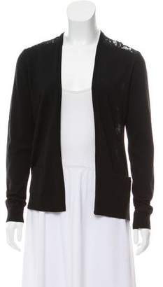 Theory Lace-Accented Open Front Cardigan