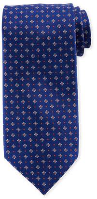 Stefano Ricci Men's Small Medallion Print Silk Tie