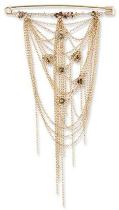 Alexis Bittar Fringe Safety Pin Brooch $595 thestylecure.com