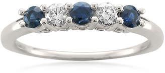 MODERN BRIDE Modern Bride Gemstone Womens 3MM 1/5 CT. T.W. Genuine Blue Sapphire 14K Gold Wedding Band