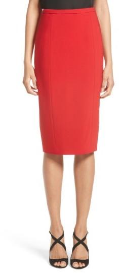 Women's Michael Kors Stretch Pebble Crepe Pencil Skirt