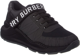 Burberry Logo Nubuck Leather & Mesh Sneaker