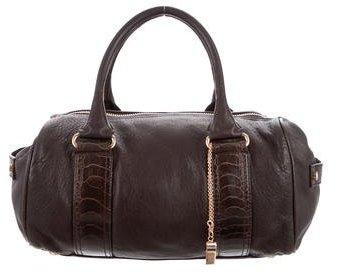 Balenciaga Balenciaga Ostrich-Trimmed Whistle Bag