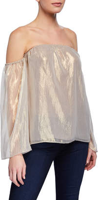 Bailey 44 Out Take Off-the-Shoulder Metallic Top