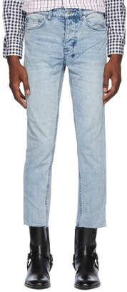 Ksubi Blue Citch Chop Acid Trip Trash Jeans