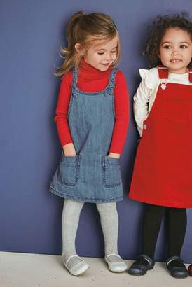 Next Girls Denim Knot Pinafore (3mths-6yrs)