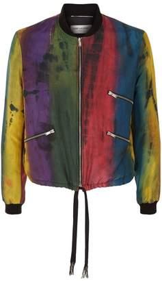 Saint Laurent Tie-Dye Bomber Jacket