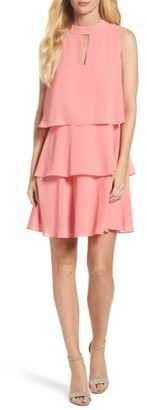 Women's Vince Camuto Tiered Chiffon Dress $148 thestylecure.com