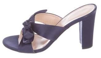 Barneys New York Barney's New York Satin Slide Sandals