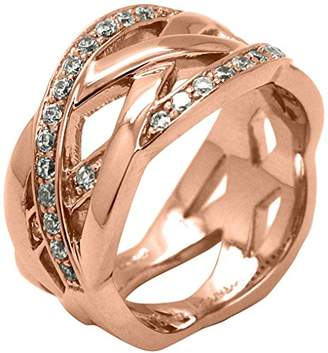 Babette Wasserman Small Rose Gold Poison Ivy Pattern Ring - Size L