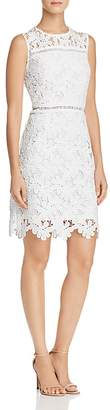 Aqua Floral Lace Sheath Dress - 100% Exclusive