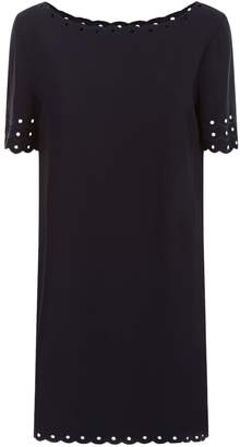 Claudie Pierlot Scalloped Trim Mini Dress