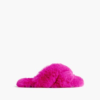 J.Crew Girls' faux-fur slippers