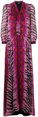 Just Cavalli tiger print maxi dress