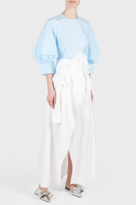 DELPOZO Long Wrap Skirt
