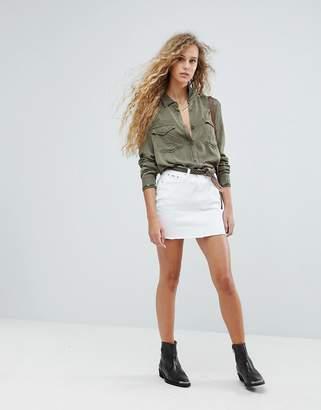 Pepe Jeans Rainbow Pocket Chewed Skirt