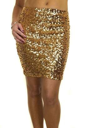 Ice 2548-4 Stretch Sequin All Over Party Mini Skirt 2-10